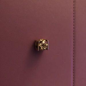 Hawaiian Jewelry Yellow Gold Flower Cube Pendant